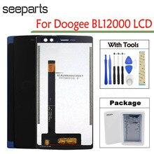 """6.0 """"Doogee BL12000 LCD ekran dokunmatik ekranlı sayısallaştırıcı grup bL 12000 Doogee BL12000 Pro LCD Siyah/Mavi Yedek Parçaları"""