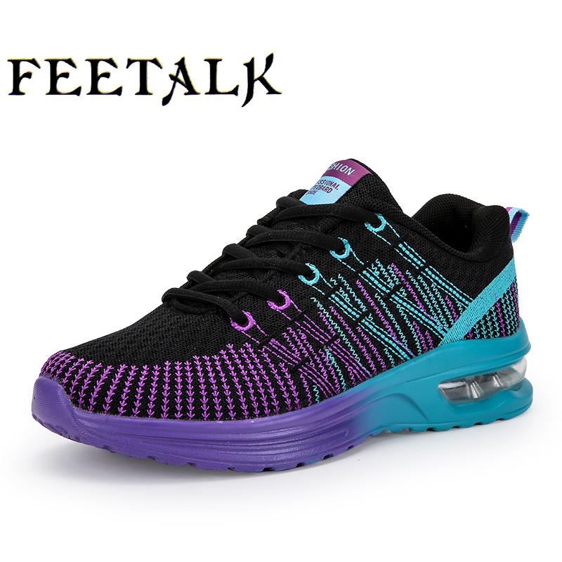 2017 Hot Breathable Women Running Shoes Girls Ladies Comfortable Platform Sport Shoes Sneakers Outdoor Movement Female