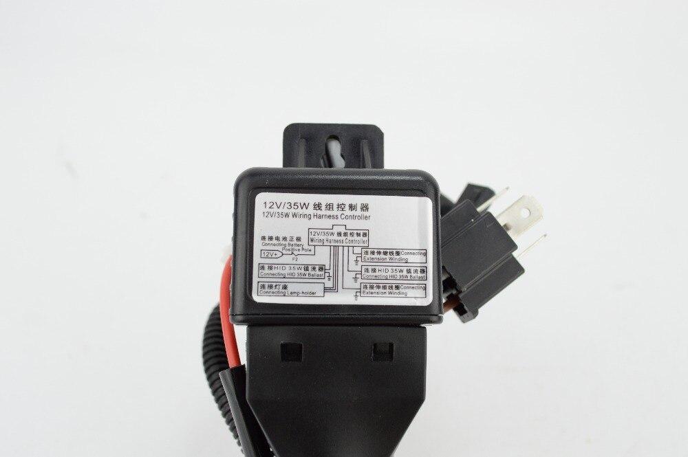 US $8.33 5% OFF|12V 35W 55W HID Bi xenon H4 Wire Harness Controller on