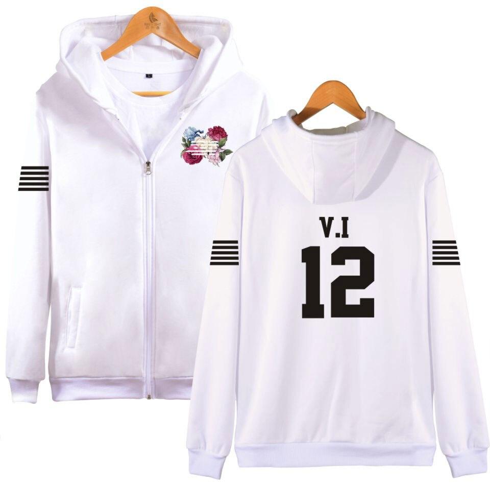 BIGBANG Spring Hoodie Zipper Hip Hop Sweatshirt Cotton Autumn Hoodie Zip-Up Plus Size 4XL G-DRAGON T.O.P SOL V.I D-LITE NAZZ