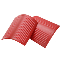 Red ABS Hood Corner Wrap Cover for Jeep Wrangler 2007 2016 A Column Cornerite Covers Plastic Hoods Protection Caps