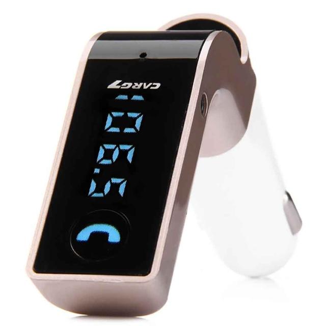 Receptor MP3 Player Display LCD G7 Receptor de Música sem fio Bluetooth Transmissor FM Suporte Rádio USB Cartão TF Handfree Mic