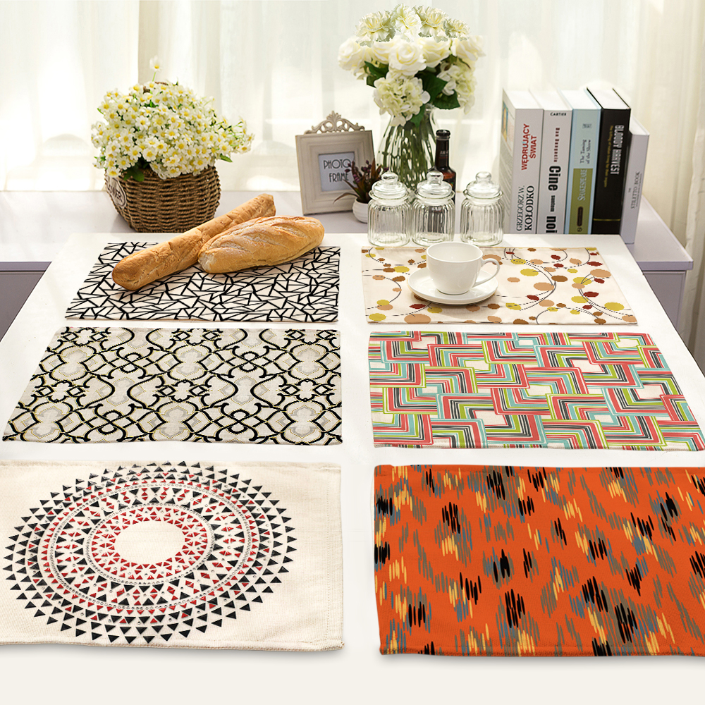 42x32cm art Printed Table Napkins for Wedding Party India Hippie Table Napkin Cloth Western Dinner Mat Home Textile