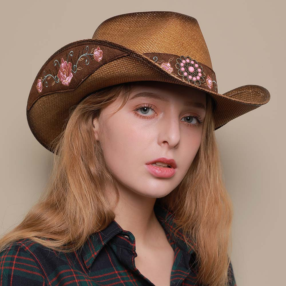 Western Leather Cowboy Hats for Women & Men 9