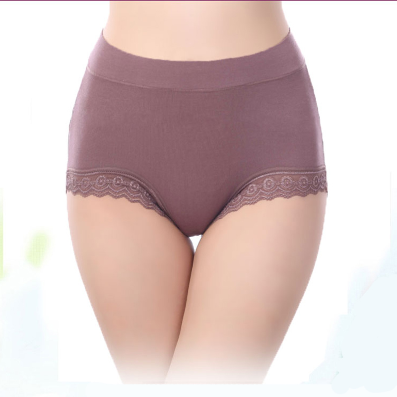 AQ193 Women Briefs Hight Waist Sexy   Panty   Lace Underwear Cuecas Modal Women Intimates   Panties   Plus Size Underpants