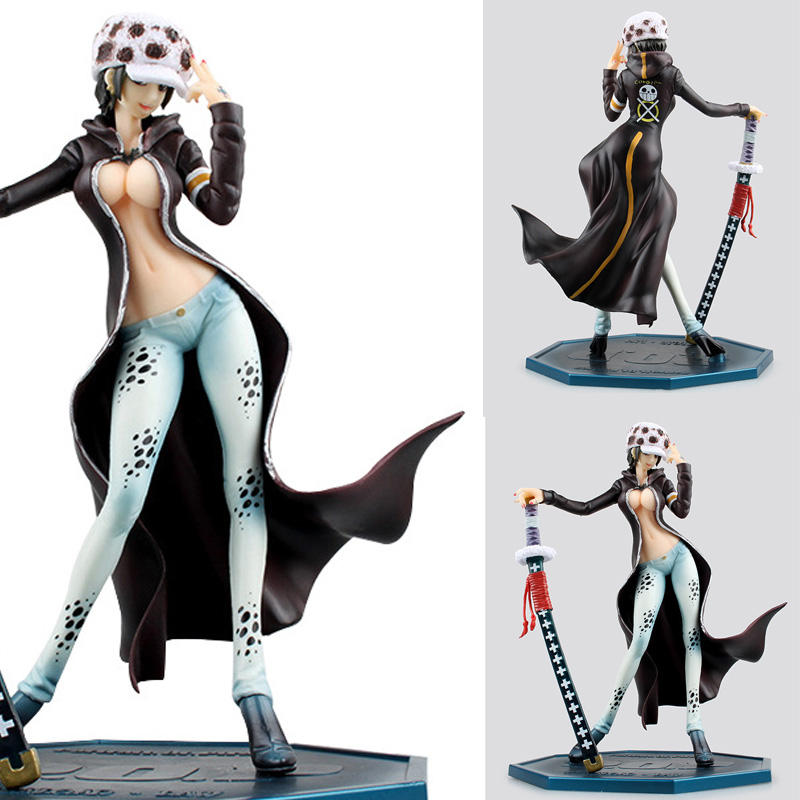 Trafalgar D Water Law Action Figure Toys <font><b>Sexy</b></font> Female Version Anime Figure One Piece 21cm PVC <font><b>Sexy</b></font> <font><b>Girl</b></font> Collection Model Doll toy image