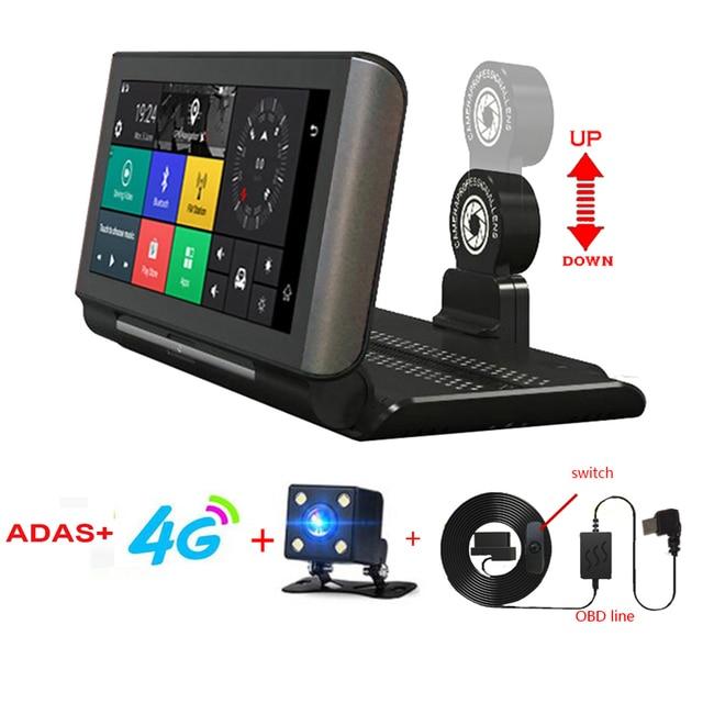 "6.86"" inch 4G ADAS Car DVR Dash Cam Mirror GPS Bluetooth WIFI Android 5.0 Dual Lens FHD 1080p Video Recorder Camera"