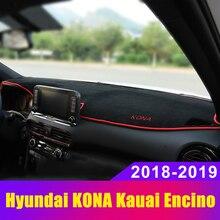 Car Dashboard Covers Mat Avoid Light Pad Sun Shade Anti-slip Protector Carpets Trim LHD For Hyundai KONA Encino Kauai 2018 2019