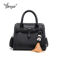 YBYT Brand Vintage Casual Tassel Women Satchels PU Leather Shopping Bags Ladies Crossbody Package Female Shoulder