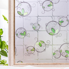 CottonColors PVC Window Privacy Films Home Decorative No-Glue 3D Static Flower Decoration Bathroom Glass Sticker Size 60 x 200cm