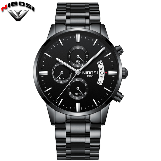 Nibosi Luxury Stainless Steel Waterproof Men Quartz Watches 5