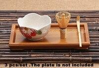 Pcs set 80 3 pinos de bambu bambu whisk colher matcha tigela conjuntos de ferramentas de chá japonês chasen bambu|Jogos de chá| |  -