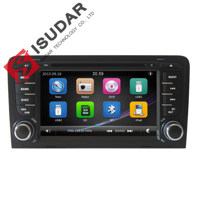 Isudar Car Multimedia player GPS 2 Din For Audi/A3/S3 2002-2011 Canbus Car DVD Player Radio Microphone Capacitive Touch Screen isudar car multimedia player gps for bmw e46 m3 mg zt rover 75 canbus radio capacitive touch screen dvd player bluetooth ipod