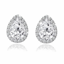 Fashion 10 Colors AAA CZ Element Drop Earrings For Women Bridal Engagement Earring Wholesale Jewelry Cheap Factory Price(China)