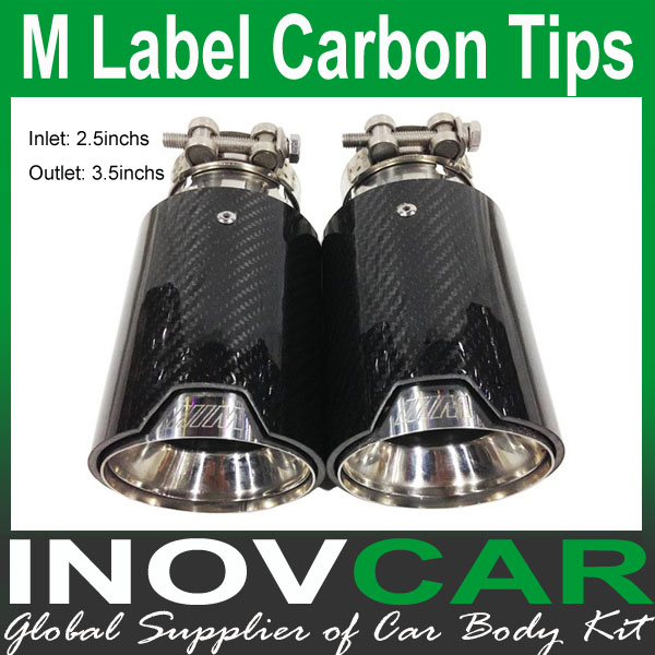2PCS M Performance Carbon Fiber Auto Exhaust End Tips For BMW M Performance Exhaust End Pipes