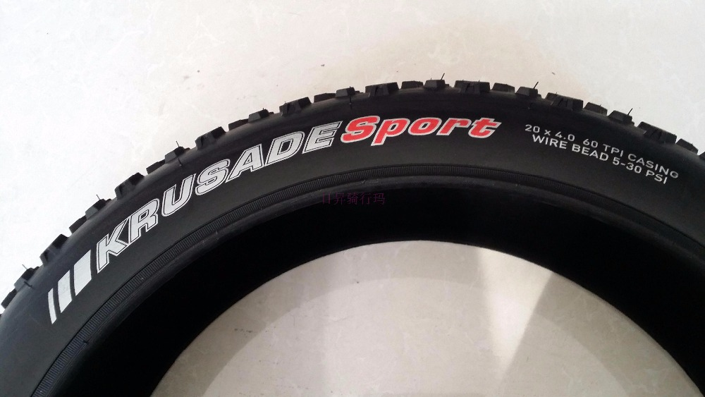 Free shipping KENDA K1188 snow bike tires 20 4 0 bicycle accessories fat tyre inner tube bike parts in Bicycle Tires from Sports Entertainment