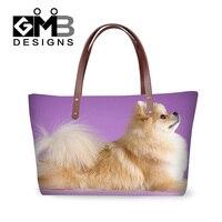 Dispalang ragazze animali domestici belli tedesco spitz stampato borsa cute dog animal donne di modo totes borse delle signore alla moda borse al dettaglio