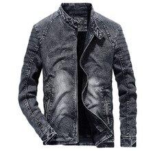Винтажные джинсовые куртки для мужчин, приталенные одноцветные повседневные мужские джинсовые пальто, модная винтажная одежда для мужчин черного и синего цвета S239