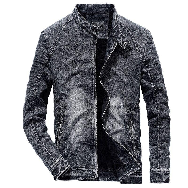 Винтажные джинсовые куртки для мужчин, приталенные одноцветные повседневные мужские джинсовые пальто 2019, модная винтажная одежда для мужч