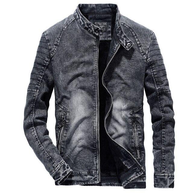 8a68c68ba460 Promo Vindima Jaquetas Jeans Dos Homens Calças de Brim Slim Fit Cor ...