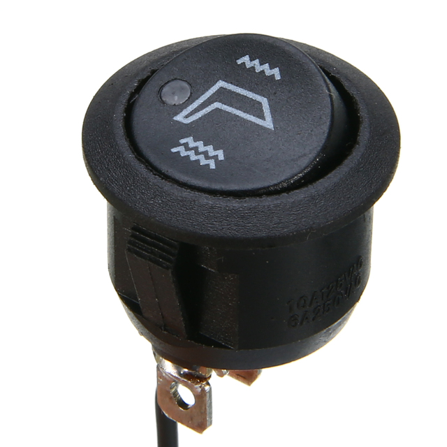 2pcs 3 Pins Round Car Heated Seat Heater Rocker Switch High