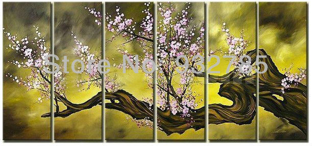 Free shipping 6pice Panel Wall Art Pictures Oil Painting On Canvas ...