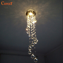 Modern led Spiral Crystal Chandelier Light Fixtures Long Stair Light for Staircase Hotel Foyer Decoration Living Room Lamp