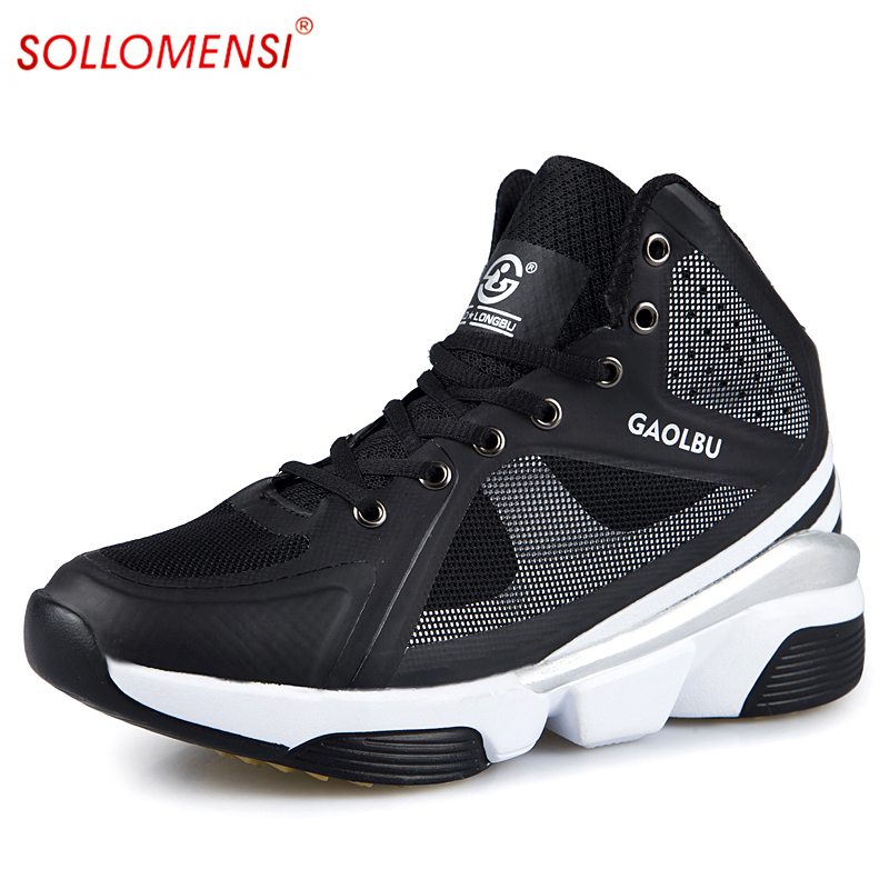 2016 outdoor sports color high-top Valentine's shoes breathable elevated section slip resistant basketball shoes size 36-44 от Aliexpress INT