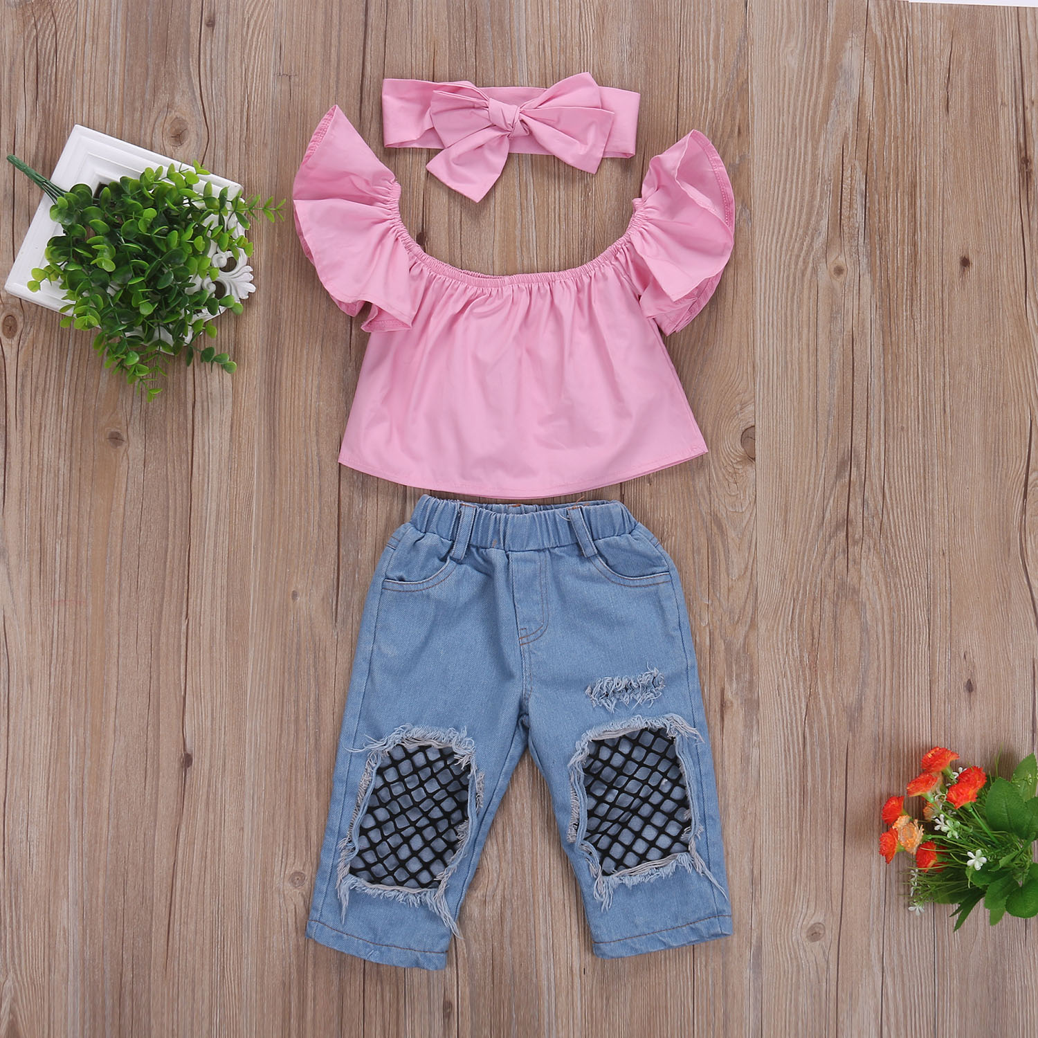 Summer Pudcoco Cute Baby Girls Clothes Set 3Pcs Toddler Kids Girl