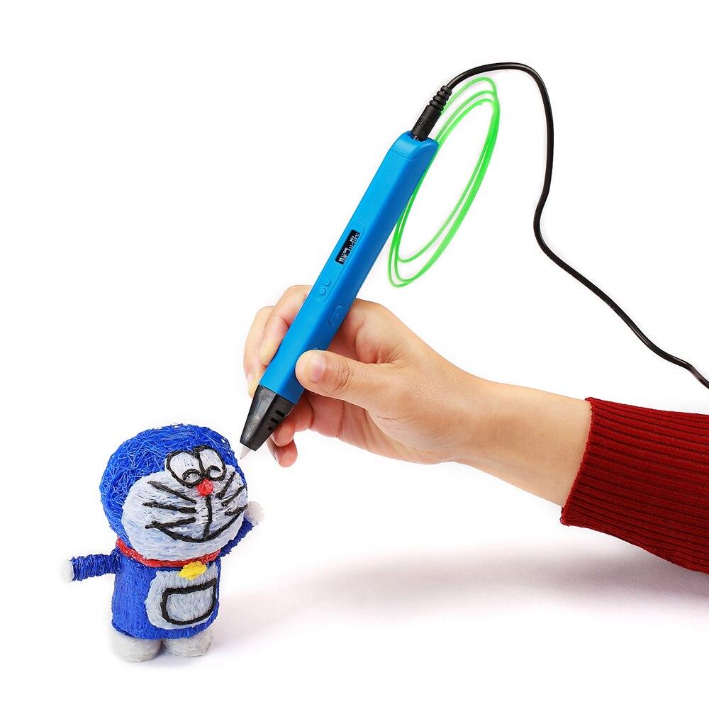 RP800A 3D Professionnel Impression 3D Stylo avec ÉCRAN OLED Génération 3D stylo de dessin pour Griffonner Artisanat D'art ou de L'éducation - 3