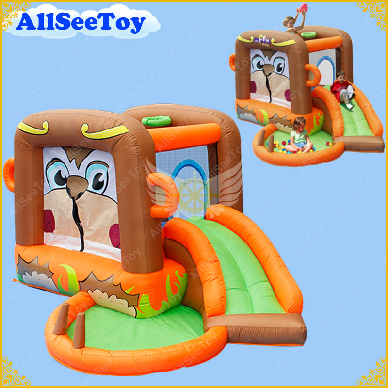 Family Use Inflatable Bouncy Calstle,Bounce House Combo Slide for Kids,Jumping Castle with Air Blower yard double inflatable slide inflatable toys bounce house cama elastic trampolines for kids bouncy castle