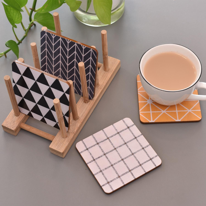 CFen A's Geometric Wood Coaster