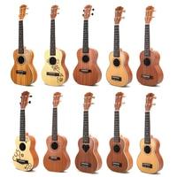 23 Ukulele Rosewood 4 Strings Mini guitar Hawaii Guitar Concert Ukulele for Child gift Maple Flower with Picks UK02