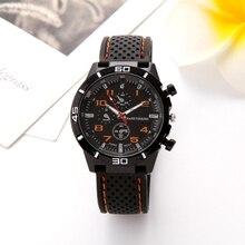 Mens Watches Fashion Silicone Rubber Strap Quartz Wristwatch Casual Men Amy Military Sports Clock Watch Relogio Masculino  p20