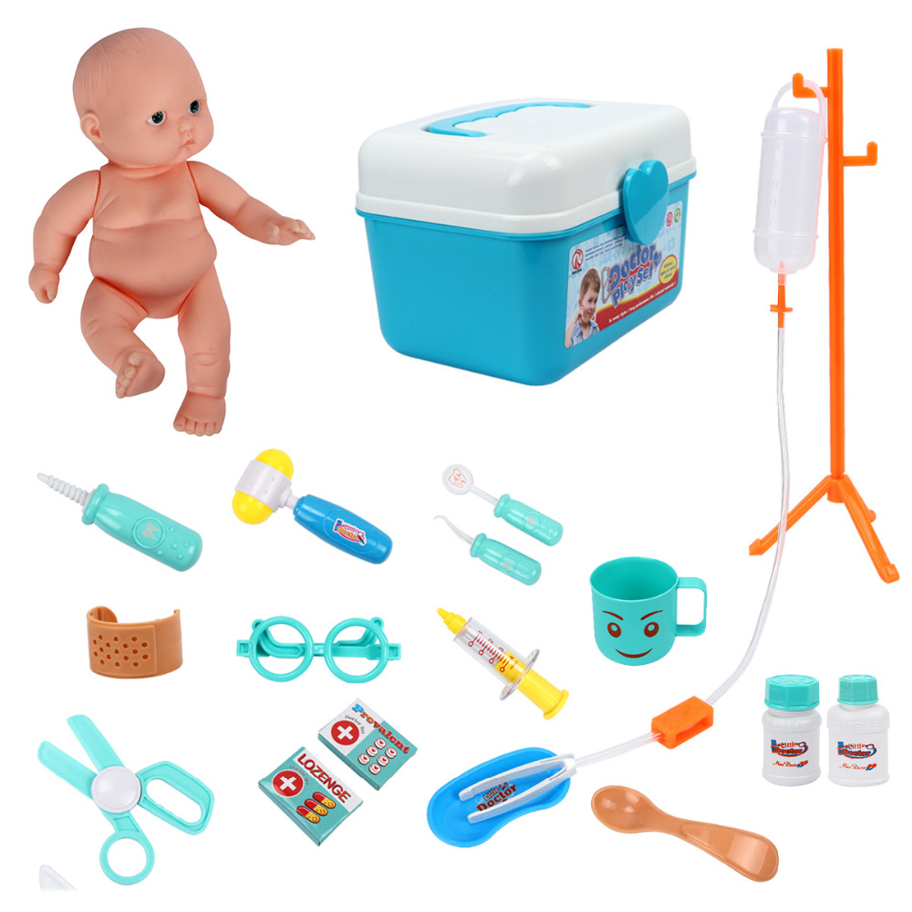 20pcs/Set Girl Toys Simulation Children Pretend Doctor Role Play Educational Toys Medical Kits Toys