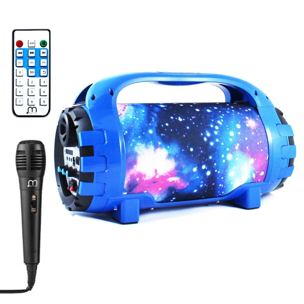 Bluetooth Speaker Karaoke Portable with Microphone Portable Wireless USB High Power With Radio MP3 fashion wireless bluetooth speaker portable audio amplifier near field communication with mobile power party usb 3 5mm mp3