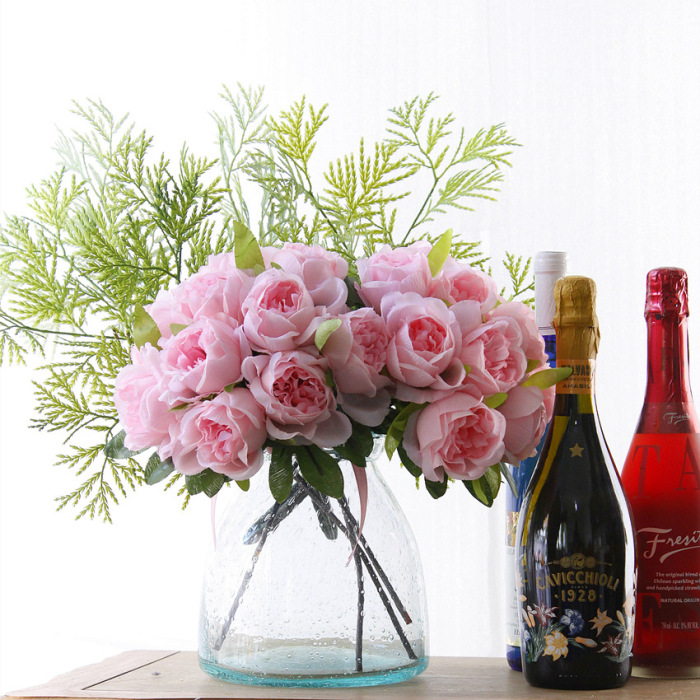 1 Bouquet DIY Жасанды гүлдер Роза Жібек - Мерекелік және кешкі заттар - фото 3