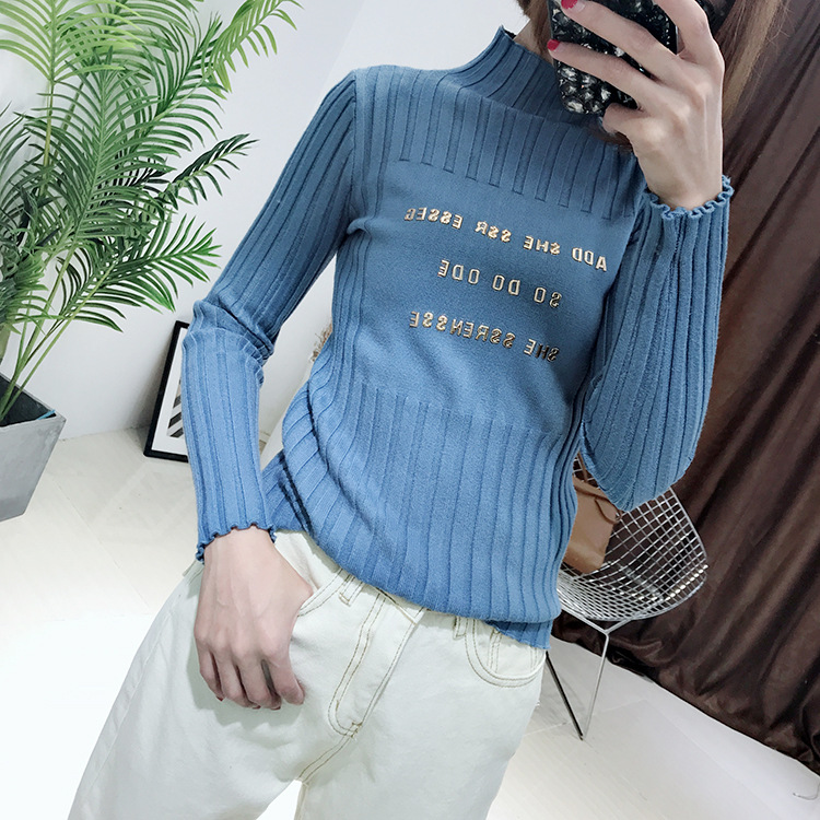 Sweater Women Solid Sweater Cotton Standard Full Time-limited Rushed Women Poncho Free Shipping 2019 Korean Knitted Metal Tide