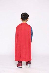Image 5 - Erkek Deluxe kas Superman Cosplay cadılar bayramı kostüm çocuklar için çocuk noel kostümleri süslü elbise tulum pelerin anime