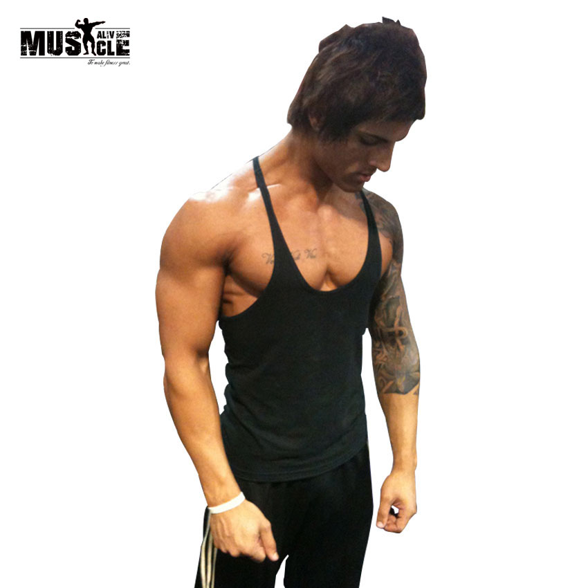 Bodybuilding tank top men 39 s t shirts brand clothing for T shirts for gym workout