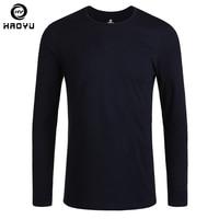 גברים חולצה בגדי מותג 2016 אופנה חדשה כותנה טבעית ארוך שרוול חולצות Tees t O צוואר Slim באיכות גבוהה מזדמן מוצק חולצה