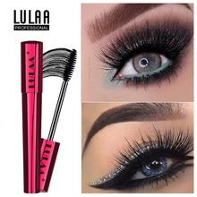 LULAA New 4D Silk Fiber Lash Mascara Waterproof Rimel Mascara Long Black Eyelash Brush Makeup Eye-Cosmetics Eye Lashes Cosmetics new line cosmetics