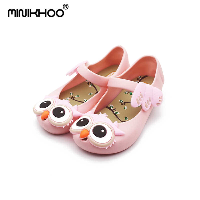 8b9ab7add1248b Mini Melissa Cute Owl Girls Sandals 2018 Owl Jelly Shoes Children Girls  Sandals Children Shoes Girls