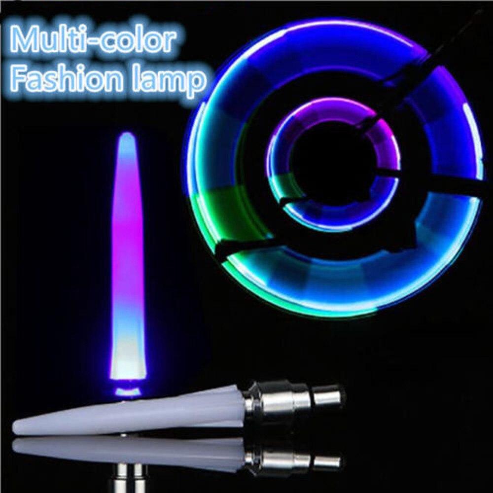 Fashion New Bicycle Bike Motorcycle Lamp Lamp Wheel Valves 7LED Lights Neon