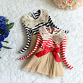 2017 Girl's summer cute sequins tutu dress , long sleeve girl dress , kids customes , 4pcs/lot   WH01