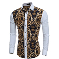 Men Long Sleeve Shirt  Male High Quality Tops Shirt Fashion Mens Dress Shirts Slim Hawaiian Large Size XXL