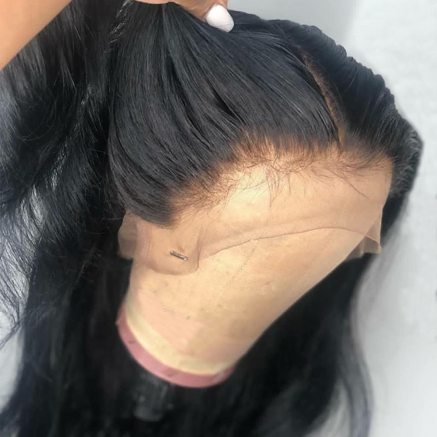 180 Density 360 Lace Frontal Human Hair Wig with Baby Hair Pre Plucked Bleached Knots For