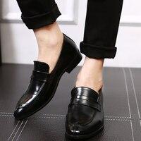 DXKZMCM кожаные деловые мужские модельные лоферы с острым носком черные туфли оксфорды мужские дышащие официальные свадебные туфли
