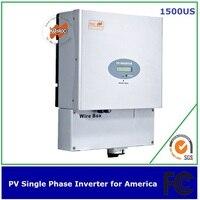 1500 w одиночный однофазный Инвертер для солнечных батарей MPPT трансформерный UL FCC IEEE CSA одобренный для Америки