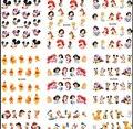 Grande (1 Unidades = 11 Hojas) BLE488-498 Princesa de Dibujos Animados de Uñas de Arte de Transferencia de Agua Pegatinas Láminas Watermark Calcomanías DIY belleza de Uñas Suministros